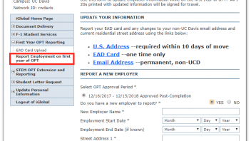 OPT Reporting Step 3