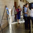 Students, scholars, and faculty in art exhibit