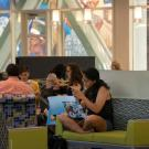 Students studying in the Memorial Union