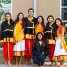 group of men and women in traditional indian clothing