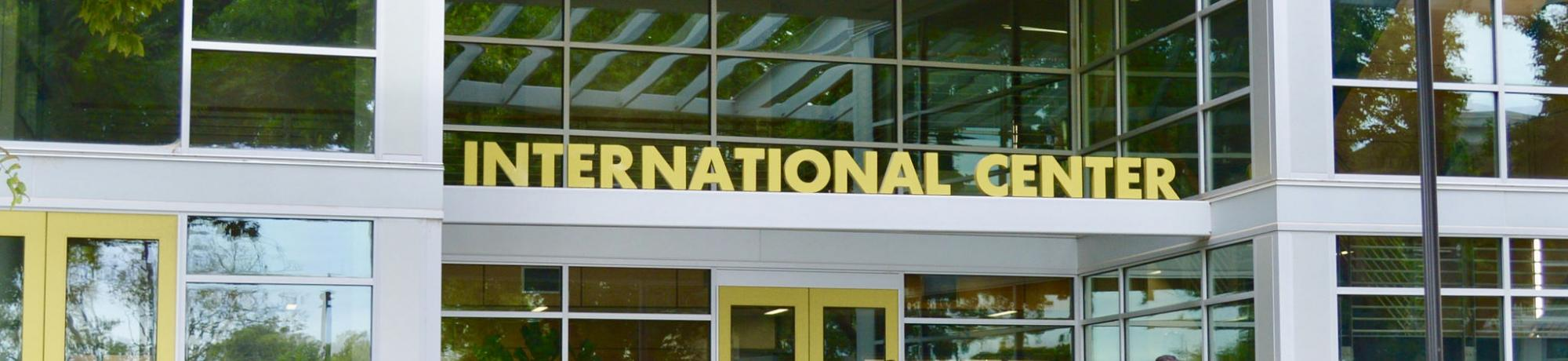 International Center sign