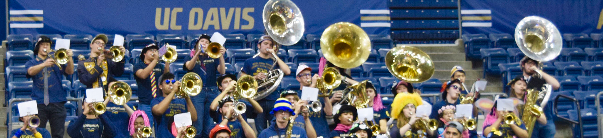 UC Davis band at a basketball game